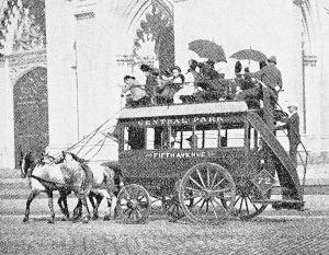 Omnibus stage coach in New York 1800s NYC Day Tripper